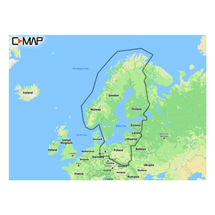 Merekaart C-Map Max-N+ Baltic Sea Continentalala